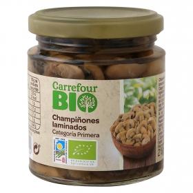 Champiñones laminados primera ecológico Carrefour Bio 124 g.