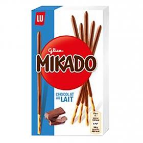Palitos de chocolate con leche Mikado Lu 75 g.