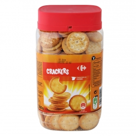Galletas saladas crackers redondas