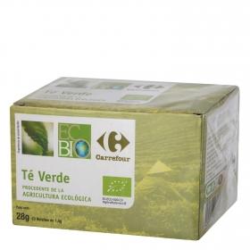 Té verde en bolsitas ecológico Carrefour Bio 20 ud.