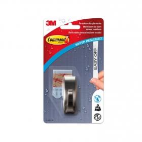 Gancho adhesivo de metalizado 2 x 2,5 x 6,2 cm -Metalizado