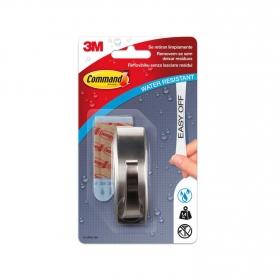 Gancho adhesivo de metalizado 2,5 x 2,7 x 8 cm -Metalizado
