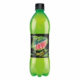 Refresco de lima-limón Mountain Dew con gas botella 50 cl.