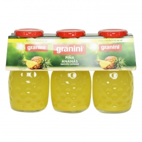 Zumo de piña Granini pack de 3 botellas de 20 cl.