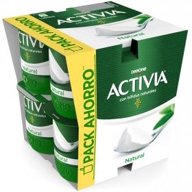 Yogur bífidus natural Danone Activia pack de 8 unidades de 125 g.