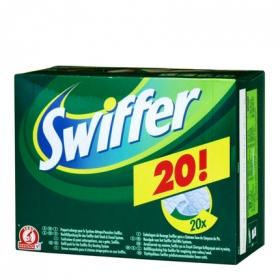 Mopa atrapapolvo recambio Swiffer pack 20 gamuzas.
