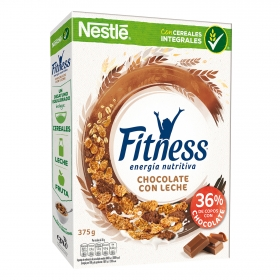 Cereales de trigo integral con chocolate Fitness Nestlé 375 g.