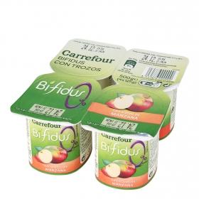 Yogur Bífidus 0% con manzana