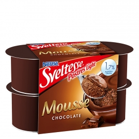 Mousse de chocolate Nestlé - Sveltesse pack de 4 unidades de 64 ml.