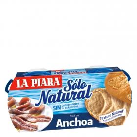 Paté de anchoa Sólo Natural La Piara 168 g.