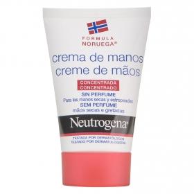 Crema de manos concentrada sin perfume Neutrogena 50 ml.