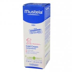 Crema facial para bebé piel seca nutriprotector Mustela 40 ml.