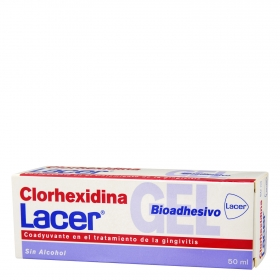Gel bioadhesivo clorhexidina tratamiento gingivitis Lacer 50 ml.