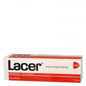 Dentífrico antiplacas-anticaries con flúor Lacer 75 ml.