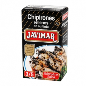 Chipirones rellenos en su tinta Javimar 72 g.