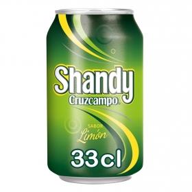 Cerveza Cruzcampo Shandy con limón lata 33 cl.