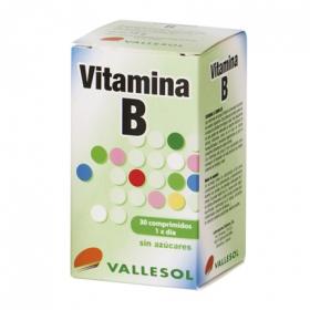Vitamina B sin azúcares Vallesol 30 cápsulas.