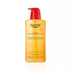 Oleogel de ducha pH5 para pieles sensibles y secas Eucerin 400 ml.