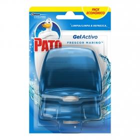 Colgador WC activo triple acción azul recambio Pato 2 ud.