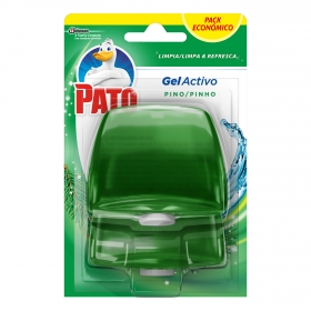 Colgador WC activo triple acción aroma lima recambio Pato 2 ud.