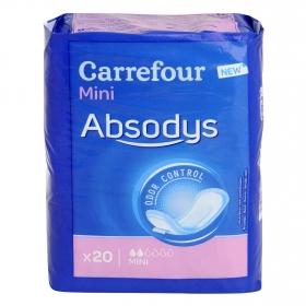 Compresas para pequeñas pérdidas de orina ' Absodys Control ' mini Carrefour 20 ud.