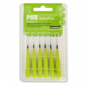 Cepillo dental interdental extrafino Phb 6 ud.