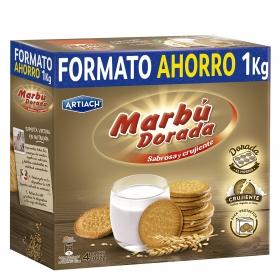 Galletas María dorada Marbú pack de 4 unidades de 250 g.