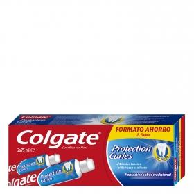 Dentífrico Protección Caries Tubo Duplo Colgate pack de 2 unidades de 75 ml.