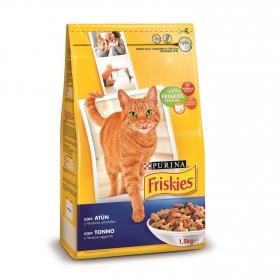 Purina Friskies Pienso para Gato Adulto Atún y Verduras 1,5Kg