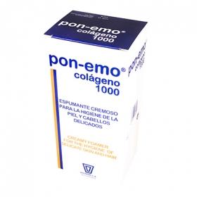 Gel y champú para la higiene de la piel y cabellos delicados Pon-emo Colágeno 1000 ml.
