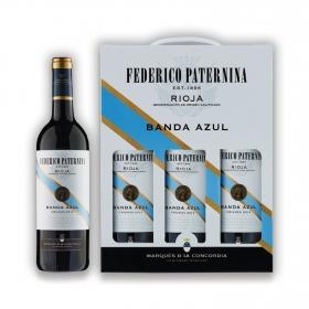 LOTE 72: 3 botellas D.O. Ca. Rioja Federico Paternina Banda Azul tinto crianza 75 cl.