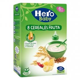 Papilla instantánea de cereales y fruta Hero Baby Natur 500 g.