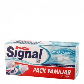Pasta dental microgránulos Signal pack 2x75 ml.