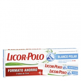 Dentífrico blanqueador Intenso Licor del Polo pack de 2 unidades de 75 ml.