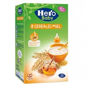 Papilla instantánea 8 cereales con miel