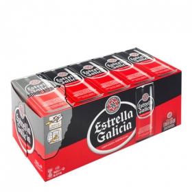 Cerveza Estrella Galicia especial pack de 10 latas de 33 cl.
