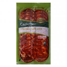 Chorizo Ibérico en lonchas Carrefour sin gluten 100 g.