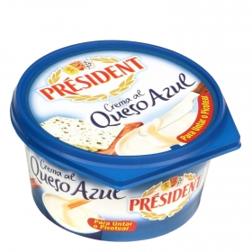 Crema al queso azul Président 125 g.