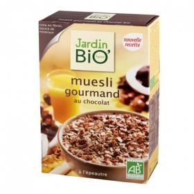 Cereales con chocolate ecológicos Muesli Jardin Bio 375 g.