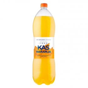 Refresco de naranja Kas con gas zero botella 2 l.