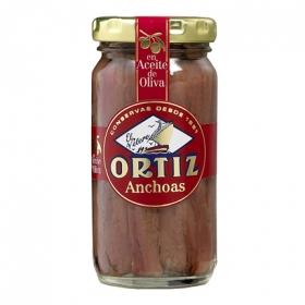 Anchoas del Cantábrico en aceite de oliva 'El Velero' Ortiz 95 g.