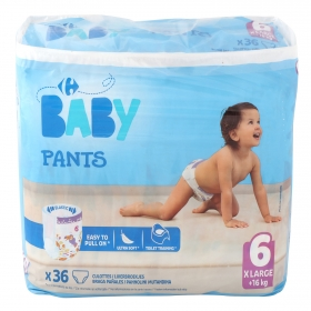 Pants Carrefour Baby T6 Extra large (16+ kg.) 36 ud.