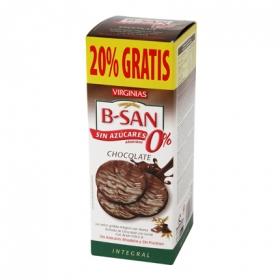 Galletas B-San con chocolate sin azúcar