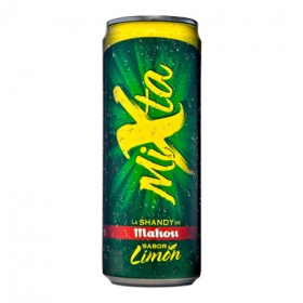 Cerveza Mahou Mixta Shandy con limón lata 33 cl.