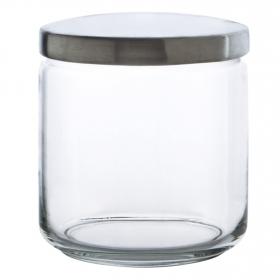 Bote Redondo de Cristal  Boxmanía 0,75 L. Transparente