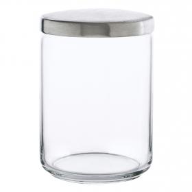 Bote Redondo de Cristal  Boxmanía 1 L. Transparente