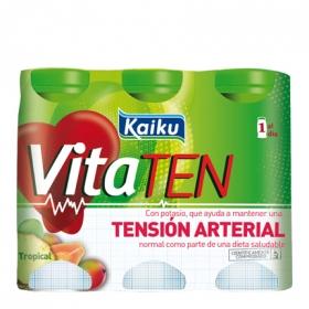 Yogur líquido tropical Kaiku Vitaten pack de 6 unidades de 70 g.