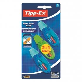 Corrector Cinta +Tipp-Ex Micro Tape Twist 2+1