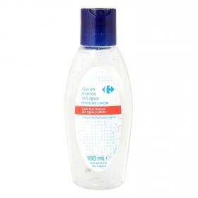 Jabón de manos sin agua con agentes bactericidas perfume limón Carrefour 100 ml.