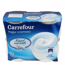 Yogur cremoso natural azucarado